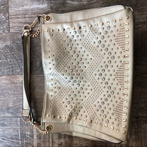 👛2/$ 25 Pale Gold Studded Bag